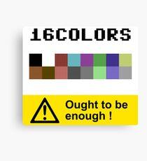 COMMODORE 64 Color Palette Canvas Print