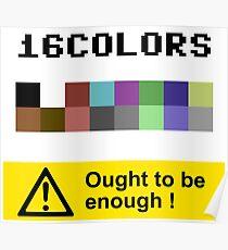COMMODORE 64 Color Palette Poster