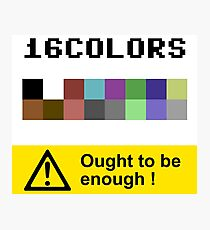 COMMODORE 64 Color Palette Photographic Print