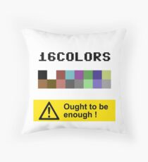 COMMODORE 64 Color Palette Throw Pillow