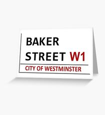 Baker Street Sign Greeting Card