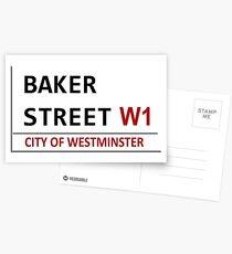Baker Street Sign Postcards