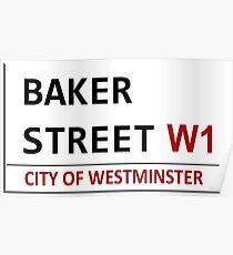 Baker Street Sign Poster