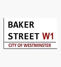 Baker Street Sign Photographic Print
