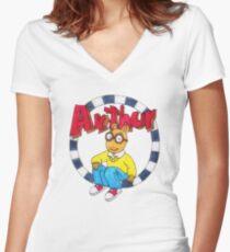 Arthur 2 Women's Fitted V-Neck T-Shirt