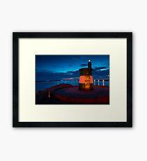 Stunning night seascape in Praia da Barra Aveiro Portugal Framed Print