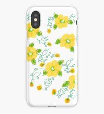 Lemon Yellow Blooms iPhone Case