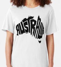Australia Black Slim Fit T-Shirt