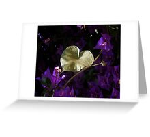 A Heart of Gold Leaf of Morning Glory Greeting Card