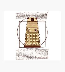Vitruvian Dalek Photographic Print