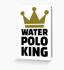 Water polo king crown Greeting Card