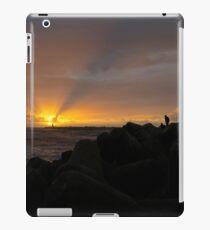 Sunset at Praia da Barra Aveiro Portugal iPad Case/Skin