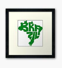 Brazil Green Framed Print