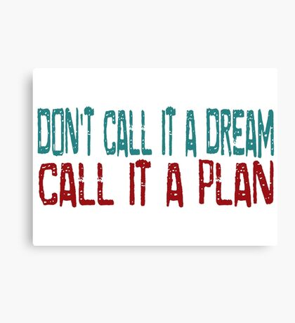Dream Beautiful Inspirational Success Quotes Canvas Print