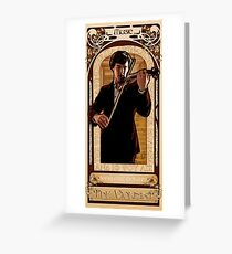 Art Nouveau Sherlock: The Violinist Greeting Card