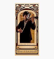 Art Nouveau Sherlock: The Violinist Photographic Print