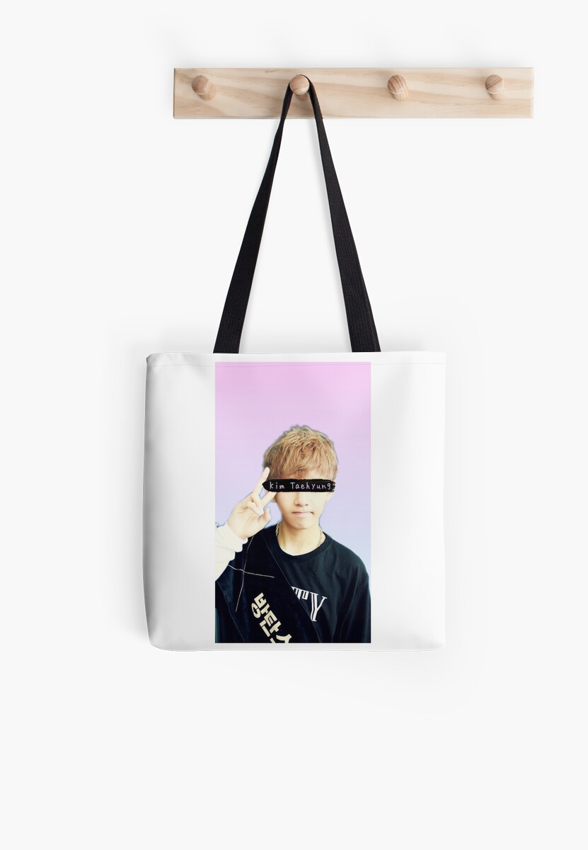 Kim Taehyung V Bts Collage Wallpaper Phone Case Tote Bags By