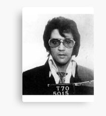 Elvis - Mug Shot Canvas Print