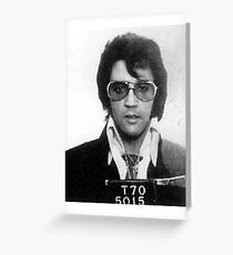 Elvis - Mug Shot Greeting Card