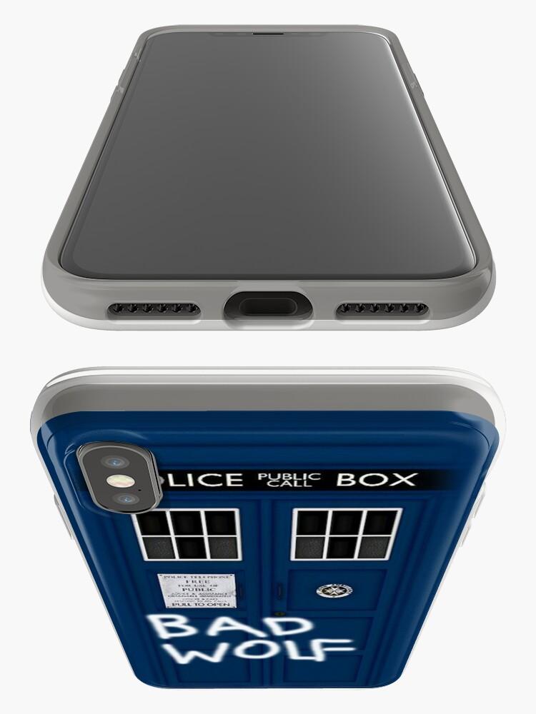 Alternative Ansicht von Police Public Call Box (w/ Bad Wolf) iPhone-Hüllen & Cover