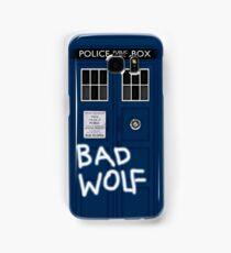Police Public Call Box (w/ Bad Wolf) Samsung Galaxy Case/Skin