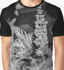 Butterfly B&W Sketch Graphic T-Shirt