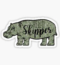 Hello Skipper  Sticker