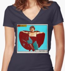 Nacho Libre - I Want To Win! Women's Fitted V-Neck T-Shirt