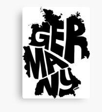 Germany Black Canvas Print