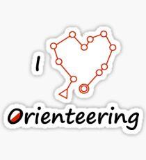 I Heart/Love Orienteering Sticker