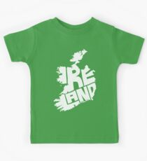 Ireland White Kids Tee