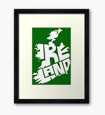 Ireland White Framed Print