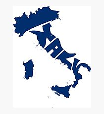 Italy Blue Photographic Print