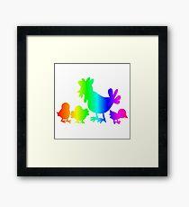 Rainbow Poultry Framed Print
