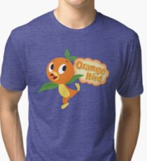 Little Orange Bird stripes Tri-blend T-Shirt