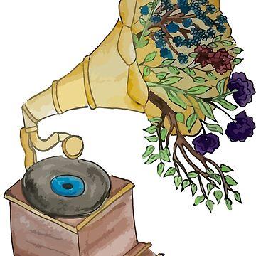 flower gramophone by heinmk
