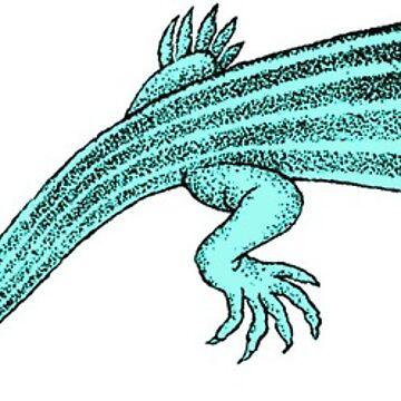 Vintage Lizard Salamander Illustration by hiway9