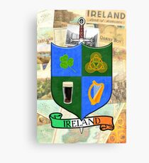 Coat Of Arms - Ireland - Shield and Sword Canvas Print