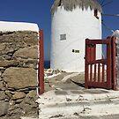 Windmill, Island Myconos, Greece by Vitta