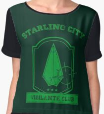 Starling City Vigilante Club 2 Chiffon Top