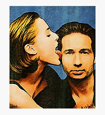 Gillian licks David's face Photographic Print