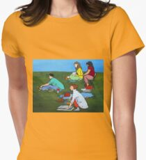 Plein Air Exercises Womens Fitted T-Shirt