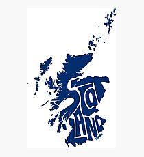 Scotland Blue Photographic Print
