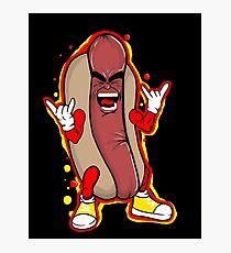 heavy metal hot dog Photographic Print