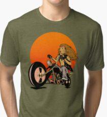 Lion, Cat, Biker - Motorcycles, Motorcycle Gear, Bikes Tri-blend T-Shirt