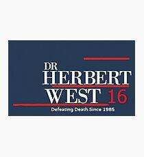 Dr Herbert West 2016 Photographic Print