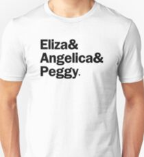 Hamilton - Eliza & Angelica & Peggy   White Unisex T-Shirt