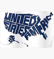 USA Blue Poster