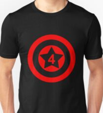 American Superhero Birthday Number 4  Unisex T-Shirt