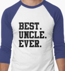 Best Papa Ever black Men's Baseball ¾ T-Shirt